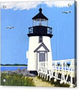 Brant Point Lighthouse Painting Acrylic Print