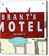 Brants Motel Sign Barstow Acrylic Print