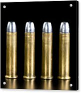 Brass And Lead Bullets. Acrylic Print