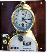 Brass Auto-meter Speedometer Acrylic Print