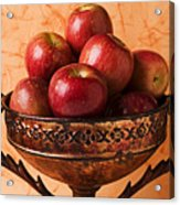 Brass Bowl With Fuji Apples Acrylic Print