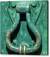 Brass Door Handle Acrylic Print
