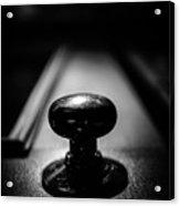 Brass Knob Acrylic Print