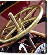 Brass Steering Wheel Acrylic Print