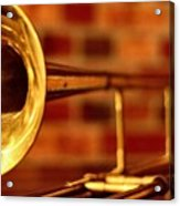Brass Trombone Acrylic Print