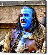 Braveheart Busker In Edinburgh Acrylic Print