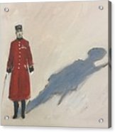 Bravery Has A Shadow - The Chelsea Pensioner  Acrylic Print