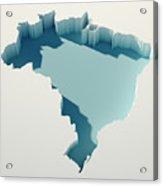 Brazil Simple Intrusion Map 3d Render Acrylic Print