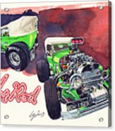 Brazilian Hot Rod V8 Acrylic Print