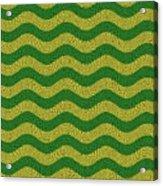Brazilian Paving Pattern In Brazilian Colours. Acrylic Print