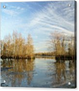 Brazos Bend Winter Reflections Acrylic Print