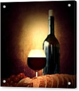 Bread And Wine Acrylic Print by Lourry Legarde