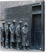 Breadline At The Fdr Memorial - Washington Dc Acrylic Print by Brendan Reals
