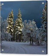 Break In The Storm Acrylic Print by James Eddy