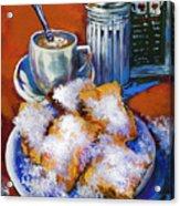Breakfast At Cafe Du Monde Acrylic Print