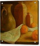 Breakfast Oranges Acrylic Print by Tom Forgione