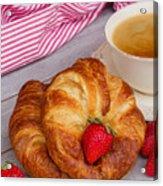 Breakfast With Croissants Acrylic Print