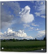 Breaking Storm Over The Willamette Valley 170522-170551 Acrylic Print