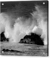 Breaking Wave At Pacific Grove Acrylic Print
