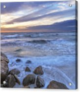 Breaking Waves At Old Silver Beach Acrylic Print