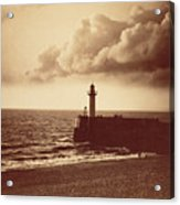 Breakwater At Sete Acrylic Print