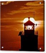 Breakwater Light Sunset Acrylic Print