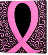 Breast Cancer Awareness Ribbon Acrylic Print