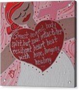 Breast Cancer Goddess Acrylic Print
