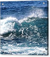 Breathe Like Water Kashmir Blue Sapphire Acrylic Print