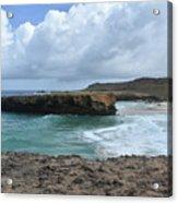 Breathtaking Boca Keto Beach On The Island Of Aruba Acrylic Print