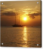 Breathtaking Sailboat Ocean Sunset #0182 Acrylic Print