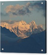 Breathtaking View Of The Italian Alps With A Cloudy Sky  Acrylic Print