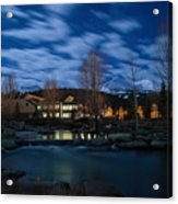 Breckenridge Blue River Night Acrylic Print by Michael J Bauer