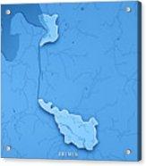Bremen Bundesland Germany 3d Render Topographic Map Blue Border Acrylic Print