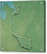 Bremen Bundesland Germany 3d Render Topographic Map Border Acrylic Print