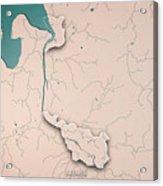 Bremen Bundesland Germany 3d Render Topographic Map Neutral Bord Acrylic Print