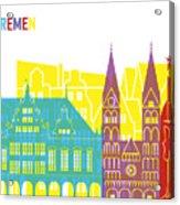 Bremen Skyline Pop Acrylic Print
