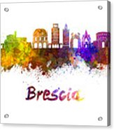 Brescia Skyline In Watercolor Acrylic Print