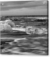 Brethamerkursandur Iceberg Beach Iceland 2155 Acrylic Print