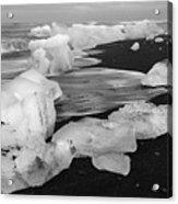 Brethamerkursandur Iceberg Beach Iceland 2319 Acrylic Print