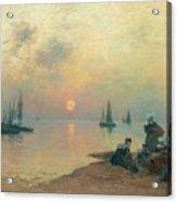 Breton Coastal Landscape At Sunset Acrylic Print