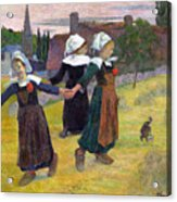 Breton Girls Dancing Pont-aven Acrylic Print