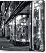Brewery And Boutique In Black And White Acrylic Print