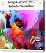 Brian Exton Pink Tulips  Bigstock 164301632  231488 Acrylic Print