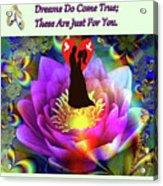 Brian Exton Sacred Flower Of Love  Bigstock 164301632  2991949  12779828 Acrylic Print