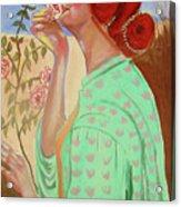Briar Rose Acrylic Print by Rusty Woodward Gladdish