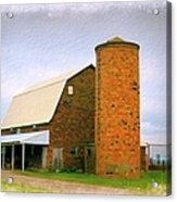 Brick Barn And Silo Acrylic Print