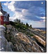 Brick Bell House At Pemaquid Point Light Acrylic Print