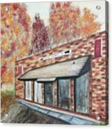 Brick Building Acrylic Print