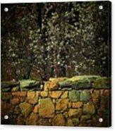 Brick Fence Acrylic Print